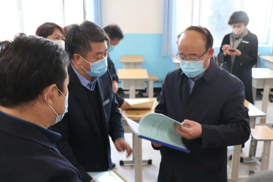 自治区教育厅副厅长李占峰深入一机一中_视察指导疫情防控和开学准备工作